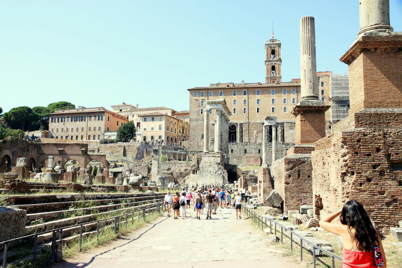 Download Roman Forum editorial stock photo. Image of empire, imperial - 21470168