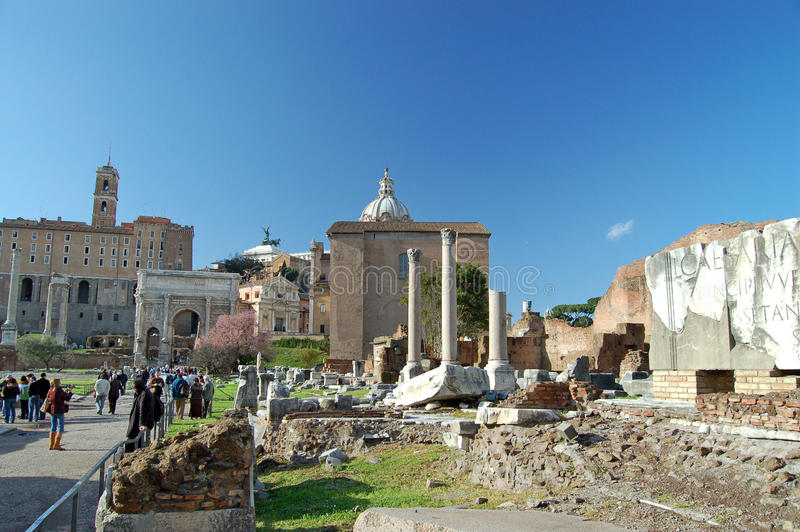Download The Roman Forum editorial stock photo. Image of icon - 22670708