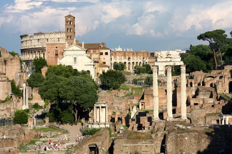 Download Roman Forum stock photo. Image of europe, landscape, panoramic - 25999710