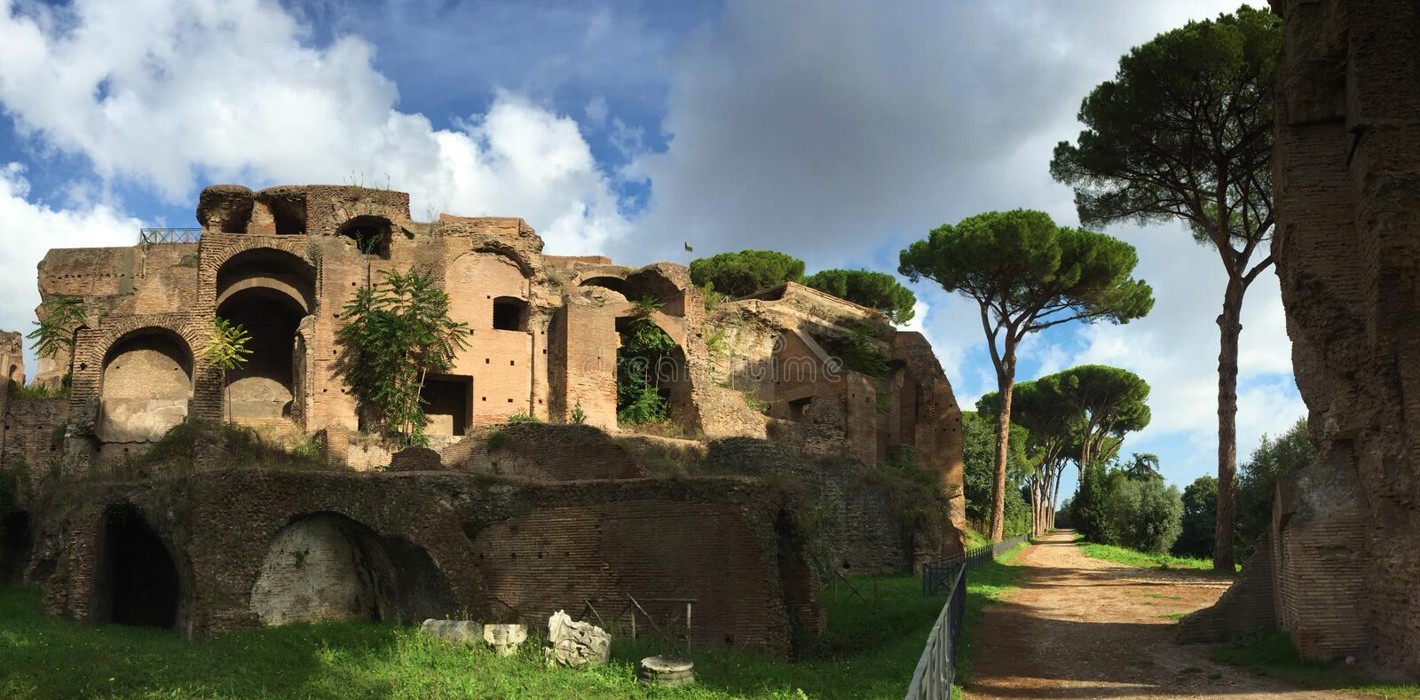 Forum was the center of day-to-day life in Rome stock images