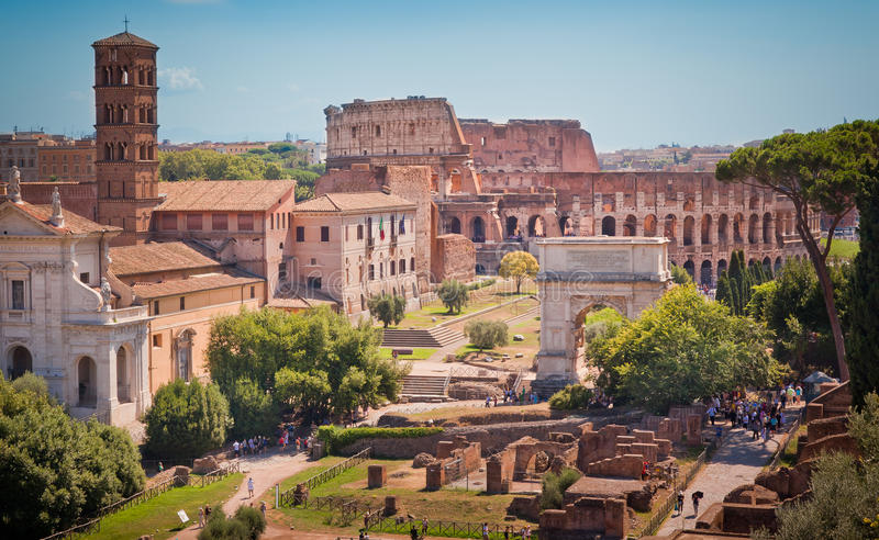 Download Roman forum and colosseum editorial photography. Image of christians - 19908067