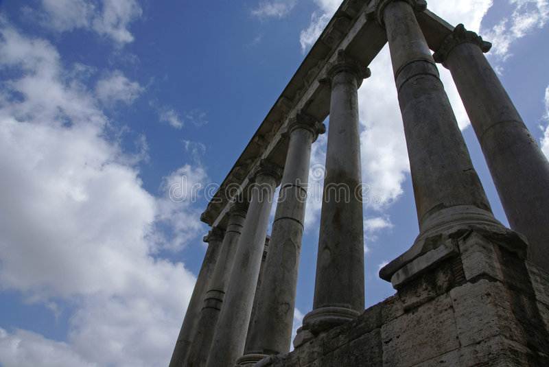 Roman Forum Columns royalty free stock photos
