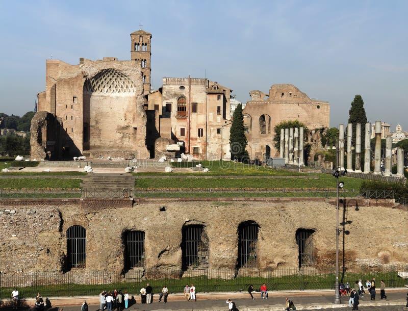 roman forum do świątyni venus obraz royalty free