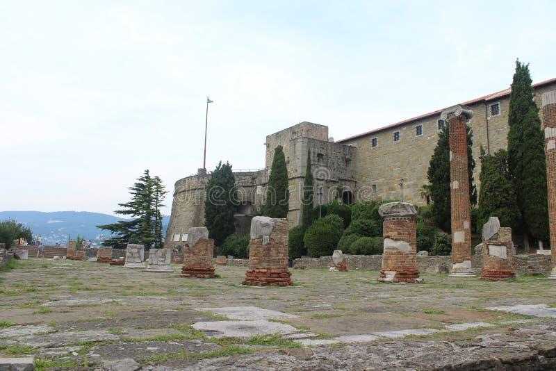 Roman Forum em Trieste fotos de stock royalty free