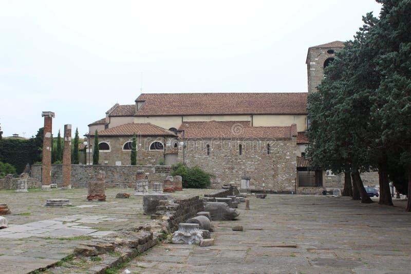 Roman Forum em Trieste imagem de stock royalty free