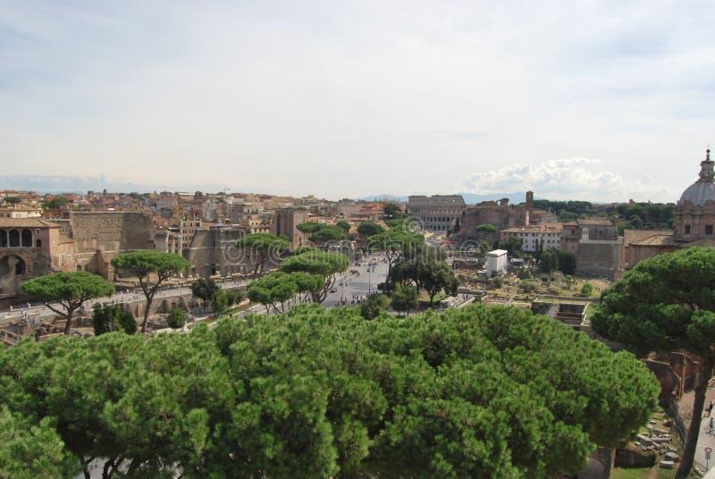 Roman forum en palatino in Rome in lazio in Italië royalty-vrije stock afbeelding