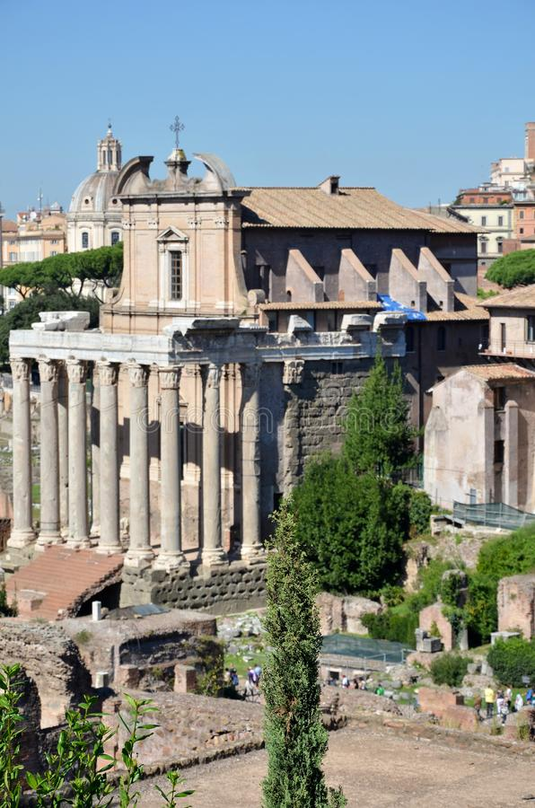 Roman Forum histórico imagen de archivo