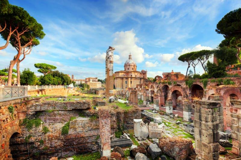 Roman Forum, italienareForo Romano i Rome, Italien royaltyfri fotografi