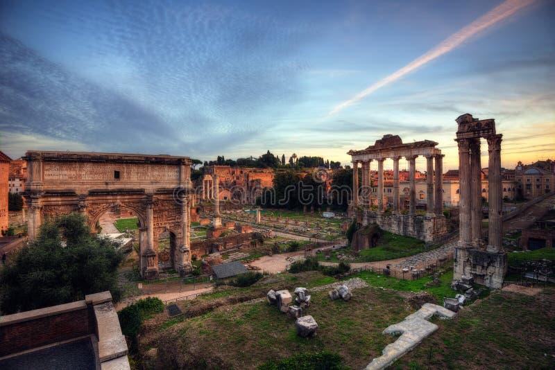 Roman Forum, Italy royalty free stock photo
