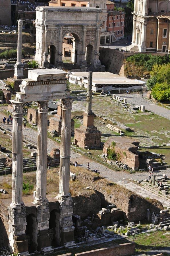 Roman Forum North images libres de droits