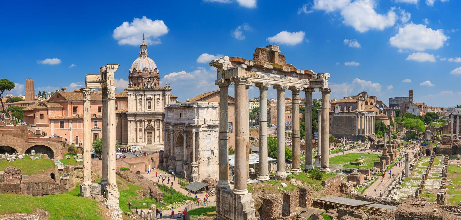 Roman Forum in Rom stockbild