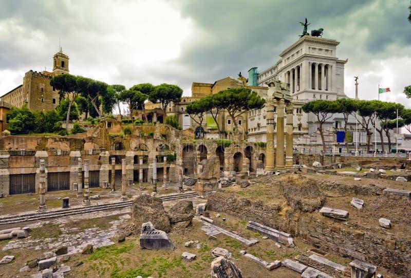 Roman Forum in Rom, lizenzfreie stockbilder