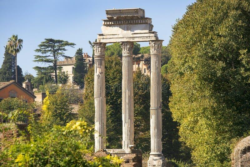 Roman Forum a Roma antica, Italia fotografie stock