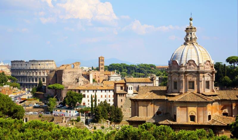 Roman Forum Rome stock foto's