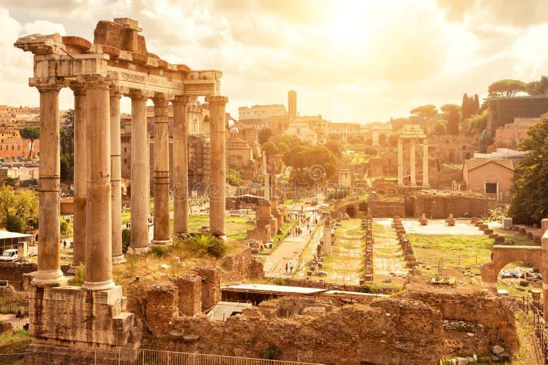 Roman Forum in Rome stock fotografie
