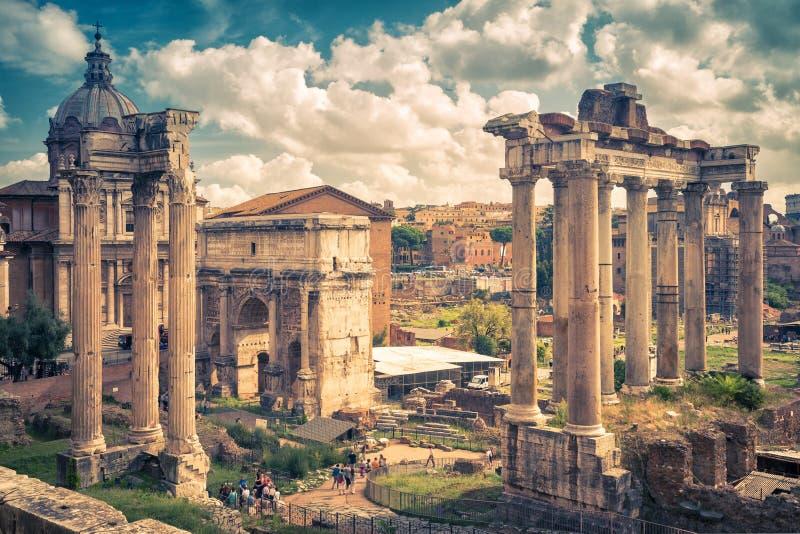 Roman Forum in Rome stock afbeelding