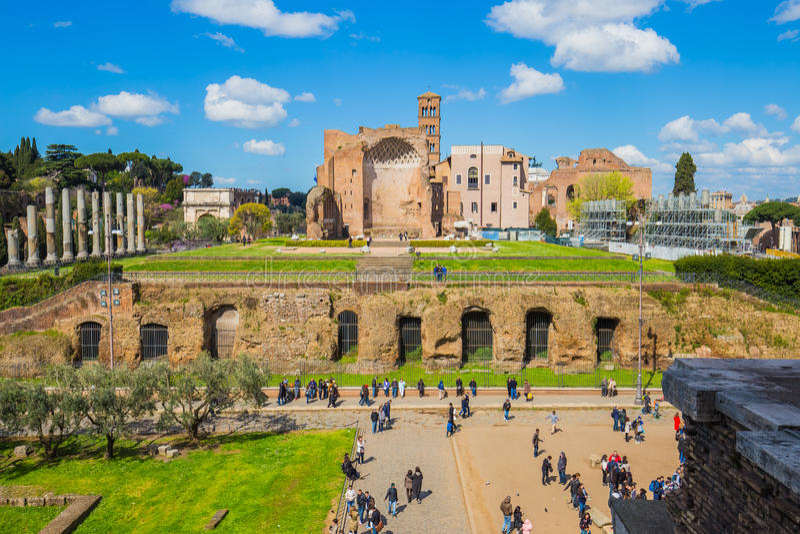 The Roman Forum in Rome, Italy stock image