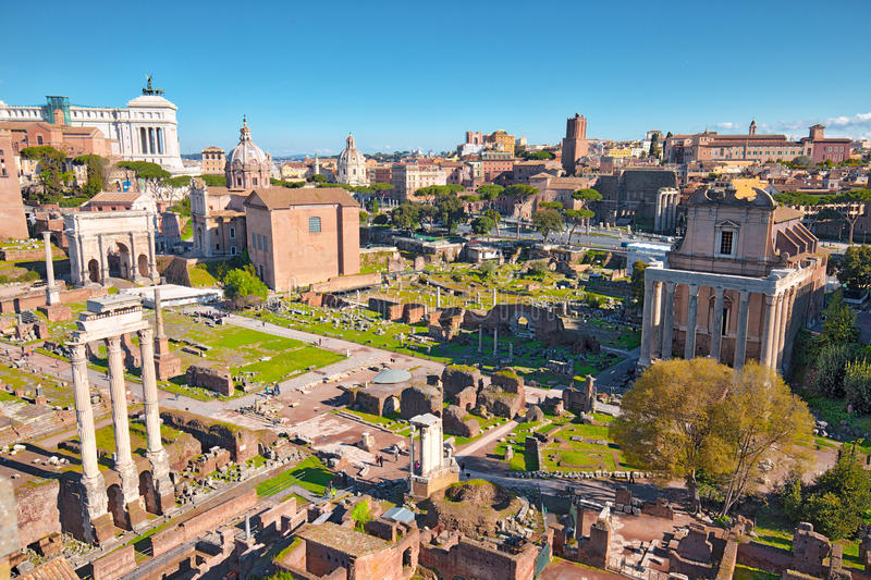 The Roman Forum in Rome, Italy royalty free stock image