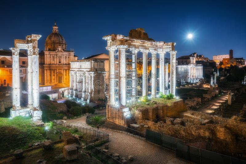 Roman Forum in Rome , Italy stock images