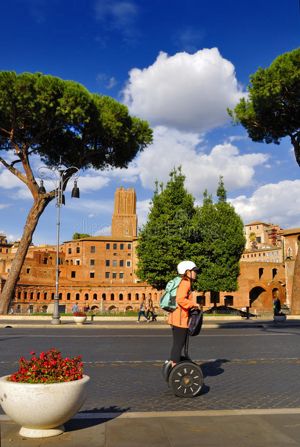 ROMAN FORUM,ROME,ITALY-SEPTEMBER 24. Roman Forum, Rome`s historic center, crowded with tourists, pilgrims and travelers from all over the world. September 24 royalty free stock photo
