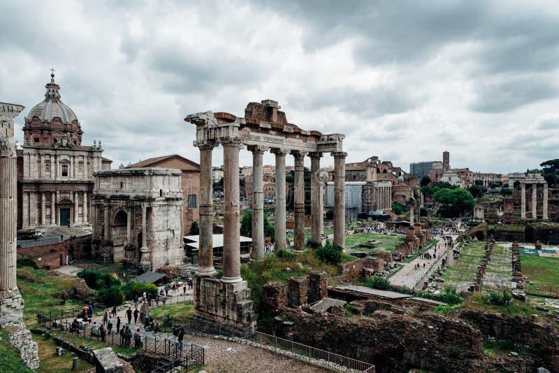 Roman Forum ruins royalty free stock photo