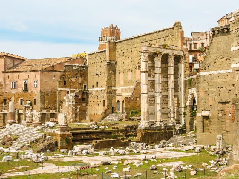 roman forum Ruiny czasy imperium rzymskie obraz stock