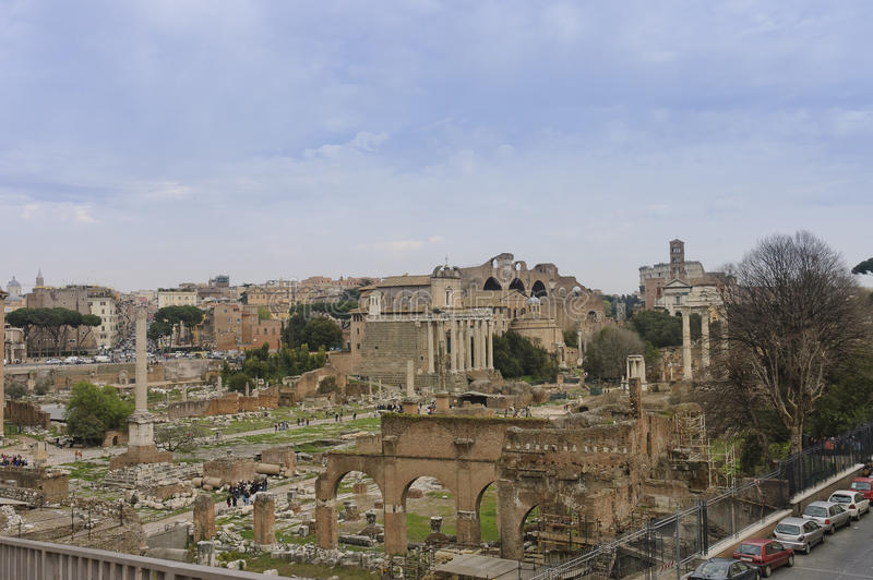 Download Roman forum scenic view editorial stock image. Image of italy - 20037679