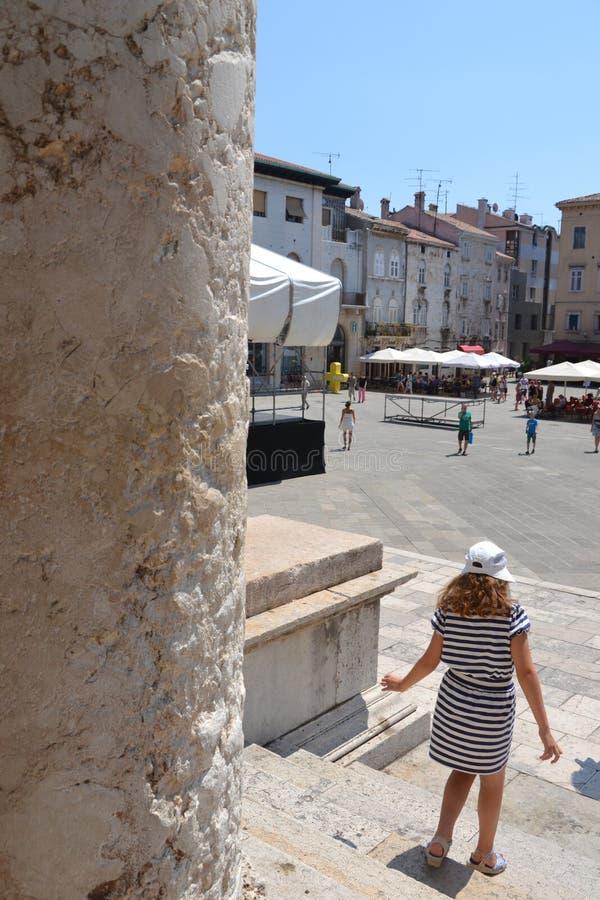 Roman Forum-vierkant in Pula - Kroatië royalty-vrije stock fotografie