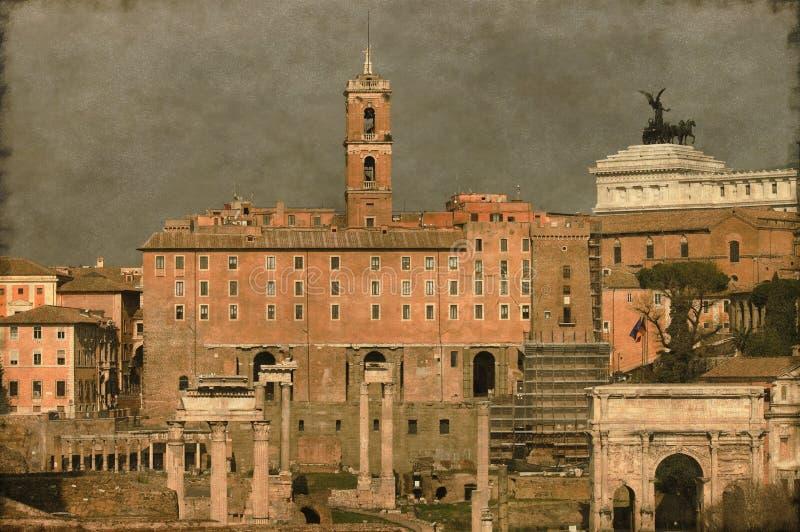 Roman Forum - Weinlese stockfotos