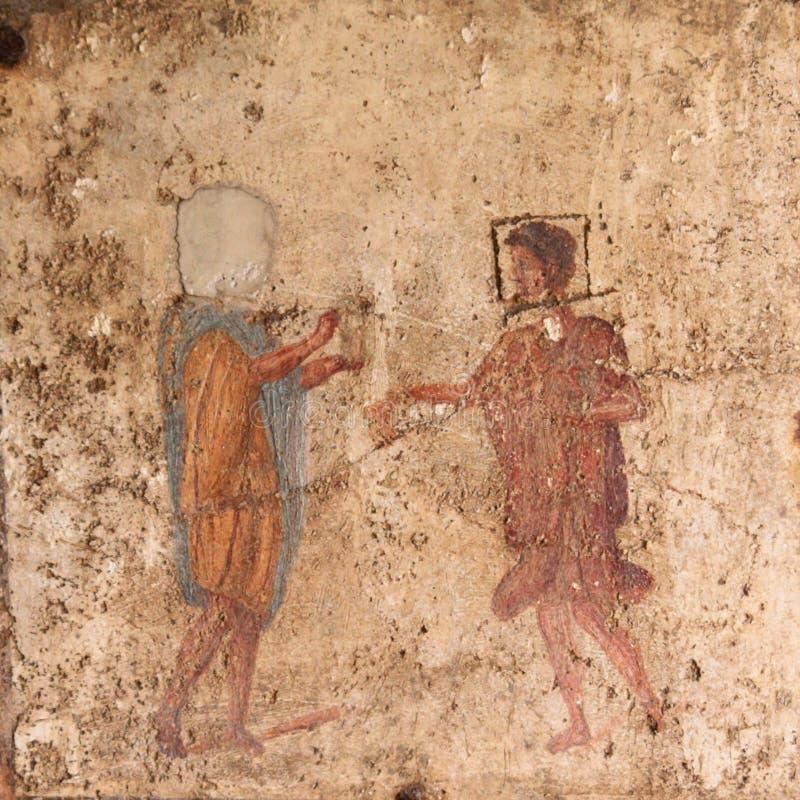 Roman Fresco - Pompeii photo stock