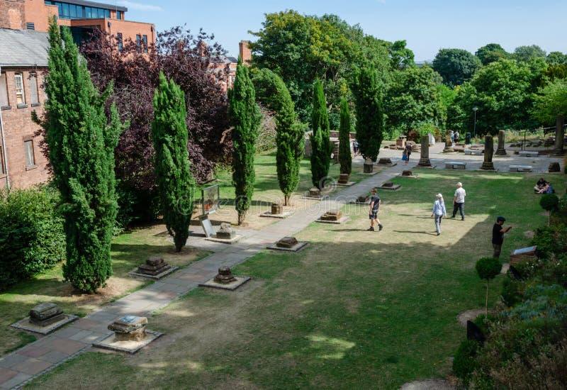 Roman Gardens de Chester photographie stock