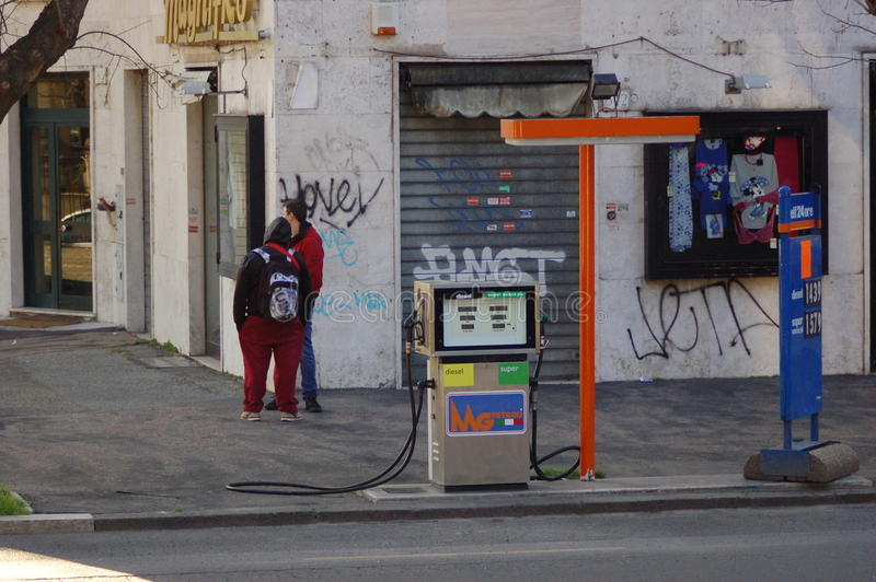 Roman gas royalty-vrije stock afbeelding