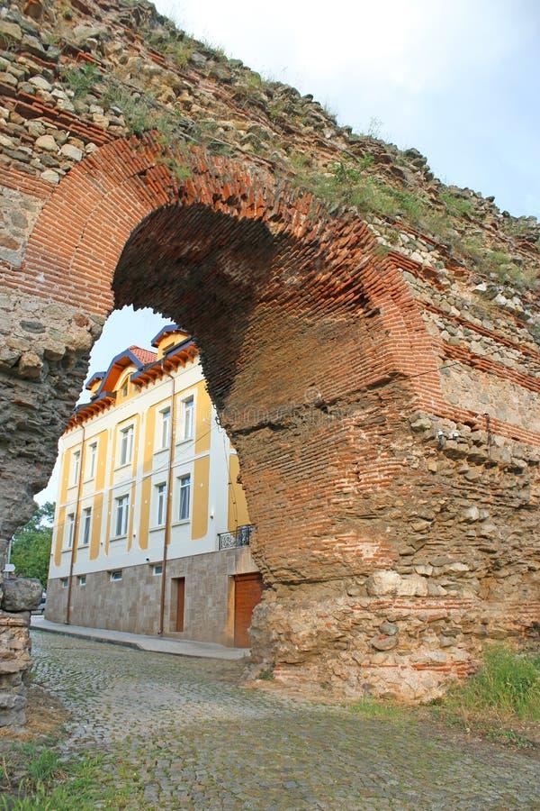 Roman gate Hisarya, Bulgaria stock images