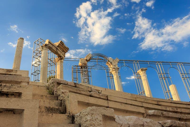 Roman gebouwen blijft royalty-vrije stock afbeeldingen
