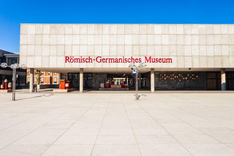 Roman Germanic museum i Cologne royaltyfria bilder