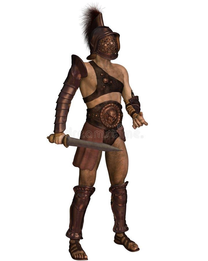 Roman Gladiator- - Murmillo-Art vektor abbildung