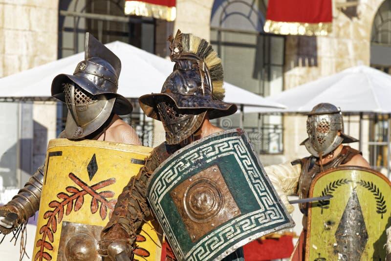 Roman Gladiatoren stock afbeelding