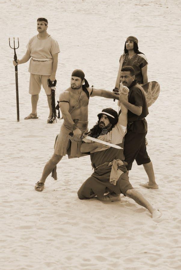 Roman gladiators stock image