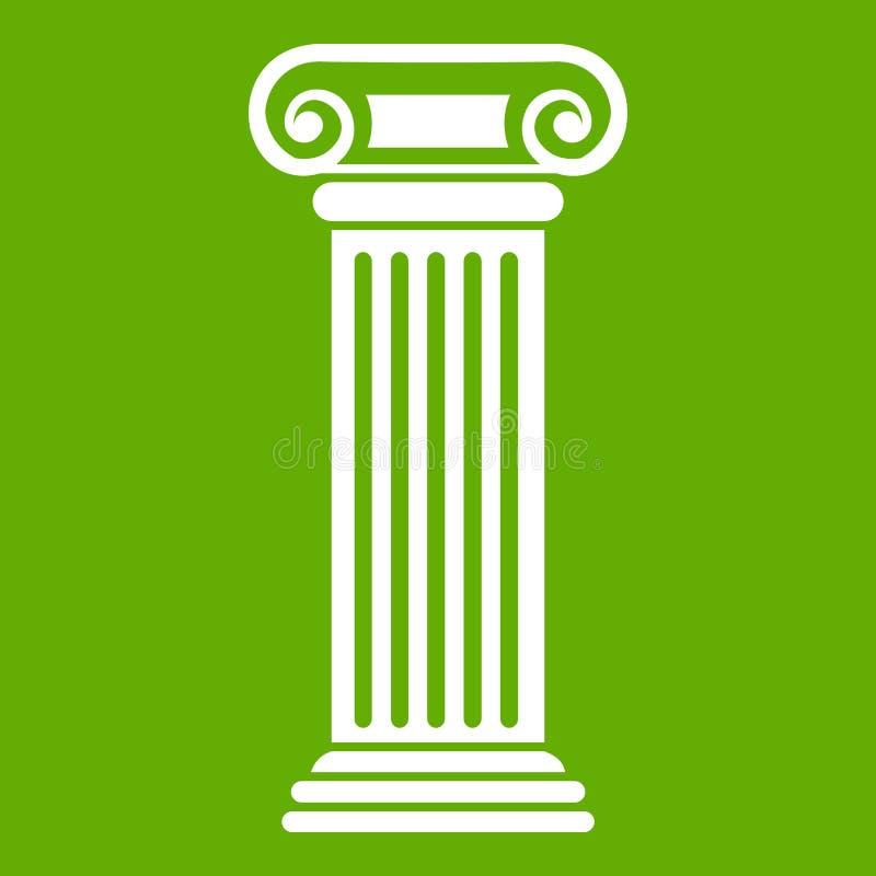 Download Roman groen kolompictogram vector illustratie. Illustratie bestaande uit instelling - 107708448