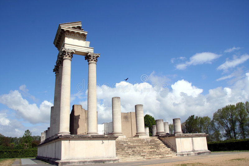 Download Roman harbor temple stock image. Image of ulpia, religion - 299603
