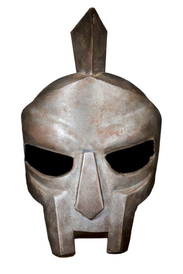 Roman Helm van de Gladiator Geïsoleerde stock afbeelding