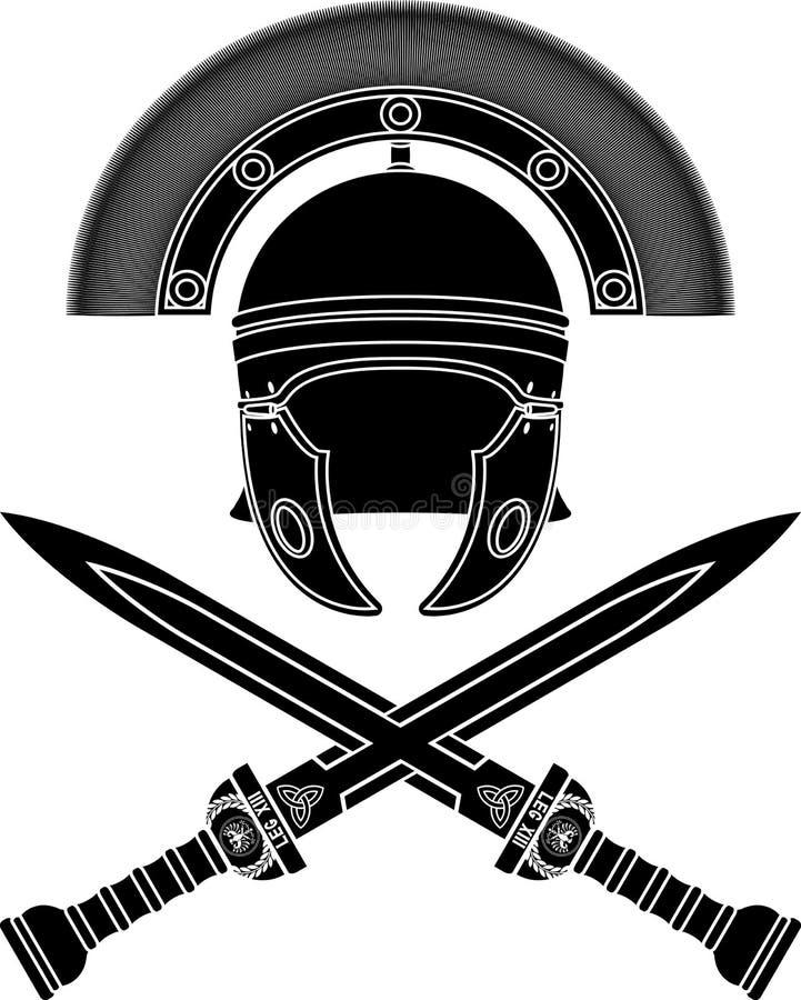 Free Roman Helmet And Swords Stock Photos - 22039043