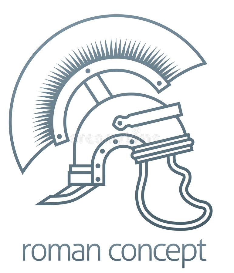 Roman Helmet Centurion Concept illustration stock