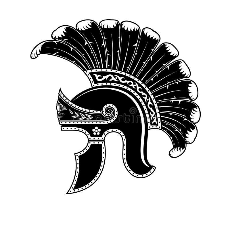 Roman helmzwarte Legatus Legionis stock illustratie