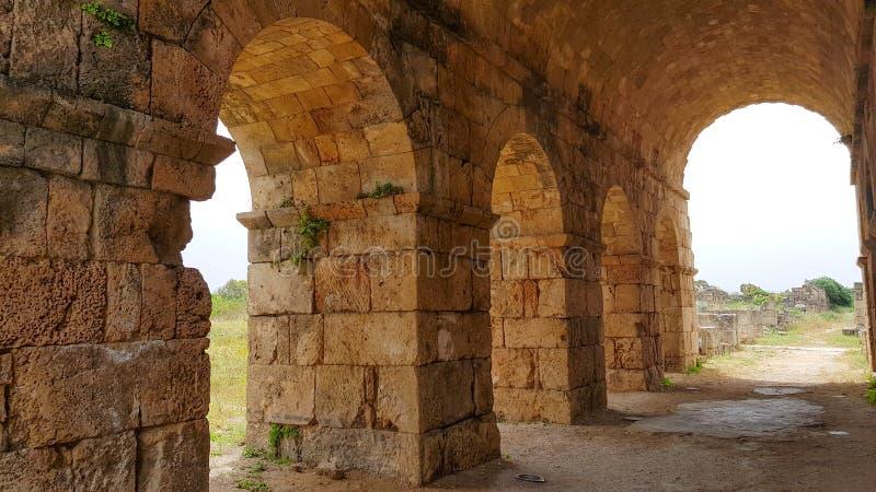 Roman Hippodrome Römische archäologische Überreste im Reifen Reifen ist eine alte phönizische Stadt Reifen, der Libanon stockfoto