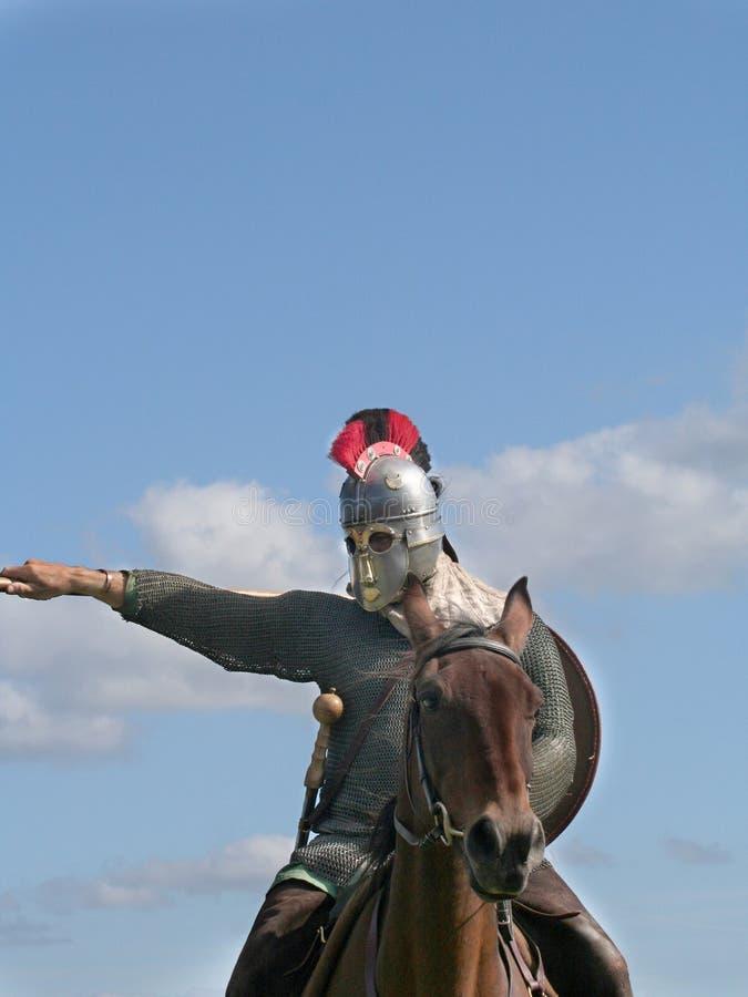 Roman Horsemen stock photography
