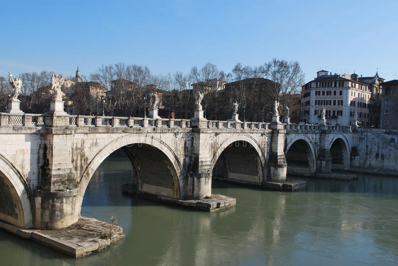 Roman Italy San-` t Angelo Bridge stockfotos