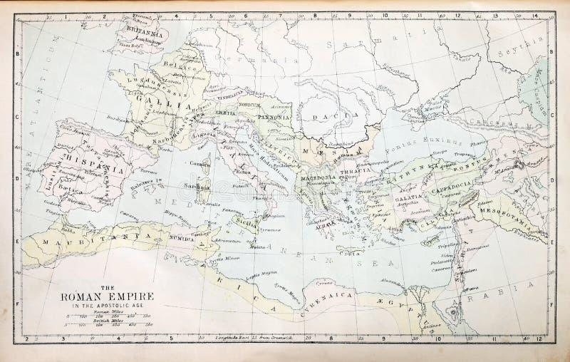 Roman Kaart van het Imperium royalty-vrije stock afbeeldingen