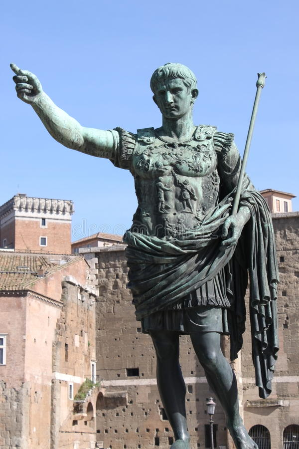Roman keizer Augustus royalty-vrije stock foto's