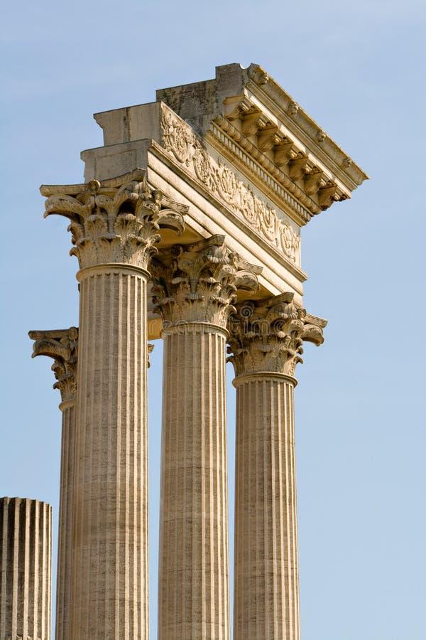 roman kolonner royaltyfria foton